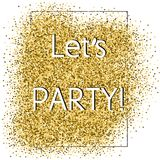 Party glittering card Stock Images