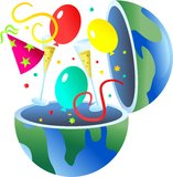 Party globe Stock Image