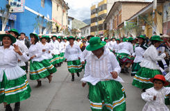 Party Goers in Peru during Epiphany Royalty Free Stock Photos