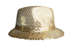 Party gold hats. On white background Royalty Free Stock Photography