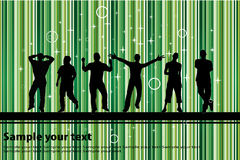 Party with green background Stock Images