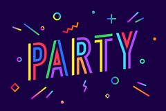 Party. Greeting card, banner, poster and flyer design Stock Illustration