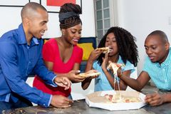 Party of group of african american men and woman royalty free stock photos