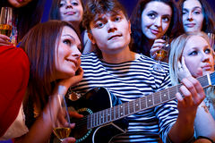 Party of group young people. Royalty Free Stock Image