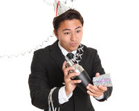 Party guy with a cocktail shaker Stock Image
