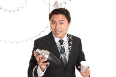 Party guy with cocktail shaker Royalty Free Stock Photo