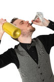Party guy in suit and vest Stock Photography