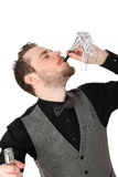 Party guy in suit and vest Royalty Free Stock Image