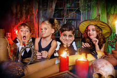Party on halloween Stock Images