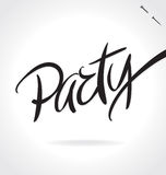 PARTY hand lettering (vector) Stock Photo