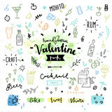 Party hard Valentines day vector graphics Royalty Free Stock Photos
