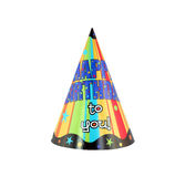 Party hat 15. Colorful party hat with decorative Happy Birthday Royalty Free Stock Photos
