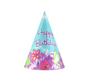 Party hat 17. Colorful party hat with Happy Birthday on it Stock Photo