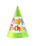 Party hat 18. Birthday party hat isolated on white background stock photography