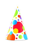 Party hat 19. Colorful party hat isolated on white background Stock Photos