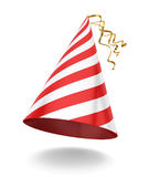 Party hat. 3d illustration on white background Stock Images