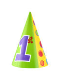 Party hat. 1st birthday party hat isolated on white background royalty free stock photos