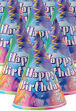 Party hat. Colorful party hats with the words Happy Birthday royalty free stock image