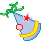 Party hat. A decorative party hat clip stock illustration