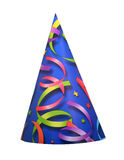 Party hat. Birthday or celebration party hat isolated on white background Royalty Free Stock Photo