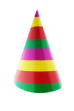 Party hat. Paper party hat on white stock image