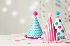 Party hat background Royalty Free Stock Image