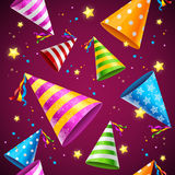 Party Hat Background Pattern. Vector Stock Photo