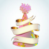 Party Hat With Banner Royalty Free Stock Photos