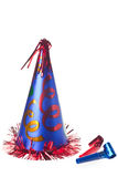 Party hat and blowers Stock Images