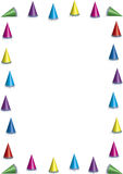Party hat border stock illustration
