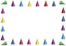 Party Hat Border Horizontal Stock Images