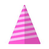 Party hat flat icon, vector sign Stock Photo