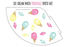 Party hat. Ice cream party Royalty Free Stock Image