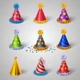 Party hat icons set Royalty Free Stock Image