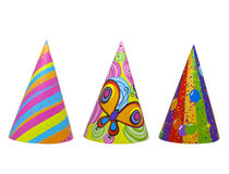 Party hat isolated. Party new year birthday hats isolated stock photography