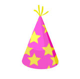 Party hat. Isolated vector illustration Stock Photography