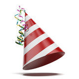 Party hat. Isolated on a white background. 3d render royalty free illustration