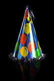 Party Hat Over Black Background Royalty Free Stock Images