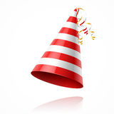 Party hat. Red white party hat illustration vector illustration