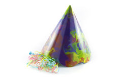 Party Hat and Streamers royalty free stock image