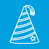 Party hat thin line icon. For web and mobile devices Royalty Free Stock Image