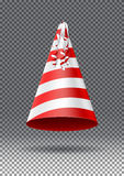 Party hat  on transparent background Royalty Free Stock Photo