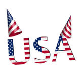 Party Hat and USA 3D Independence Day Clip Art. Independence Day USA party hat and text royalty free illustration
