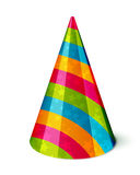 Party hat. Vector Party hat with stripes and stars on white Royalty Free Stock Images