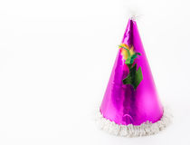 Party hat on white. Background royalty free stock photography