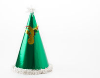 Party hat. On white background royalty free stock photos