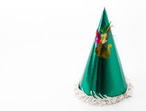 Party hat. On white background royalty free stock photo