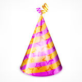 Party hat on white Royalty Free Stock Images
