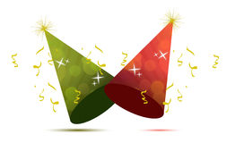 Party hats. Illustration design isolated over a white background Royalty Free Stock Images