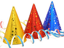 Party Hats. Isolated stock image